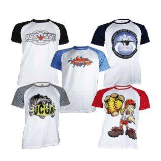 Camiseta para sublimación de 180g tacto algodón Bicolor