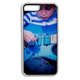 Carcasa protectora transparente para iPhone 7 con placa personalizada