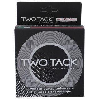 Cinta de doble cara reposicionable y multisuperficies Two Tack - Rollo de 50mm x 50m