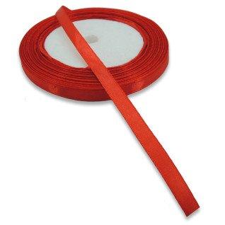 Cinta de raso roja para colgantes - Rollo de 7mm x 30m