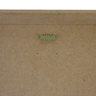 Colgador sierra 23 mm para clavar - Detalle en reverso cuadro