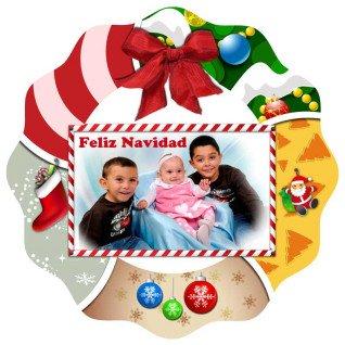 Colgante navideño de fieltro para puertas - Detalle colgante sublimado