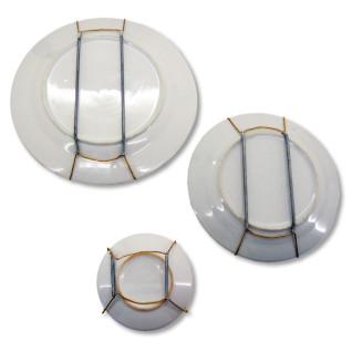 Cuelgaplatos dorado - Colocados en platos