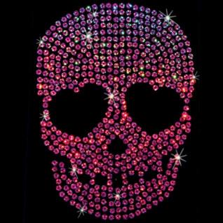 Diseño de Lentejuela brillante Calavera rosa