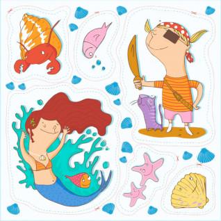 Diseño recortable tejido Sirena