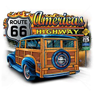 Diseño Transfer Americas Highway Ruta 66 - Pack 3 uds