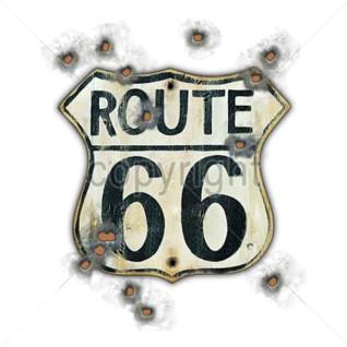 Diseño Transfer Route 66 marcas de balas pack 4 uds