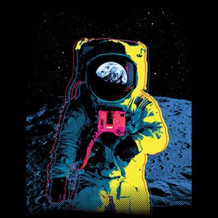 Diseño Transfer Colorful Astronaut