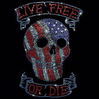 """Diseño Pedrería Calavera """"Live free or die"""""""
