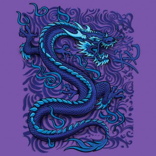 Diseño Transfer Blue Dragon