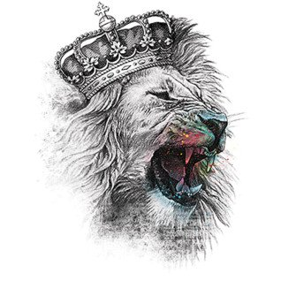 Diseño Transfer King Lion - Pack de 3 uds