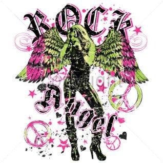 Diseño Transfer Rock Angel pack 4 uds