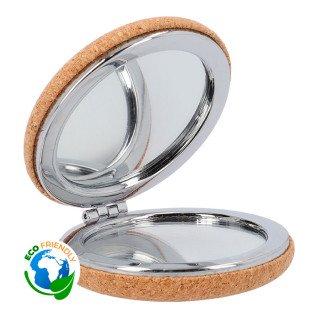 Espejo doble con revestimiento de corcho natural