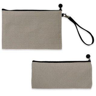 Estuches para sublimación de tejido símil lino con cremallera