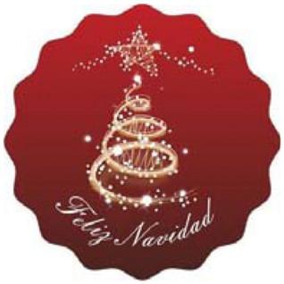"""Etiquetas adhesivas Feliz Navidad """"Arbol"""""""