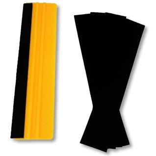 Fieltro para espátula de plástico de 5x30cm - Colocado en espátula - Pack 5 uds