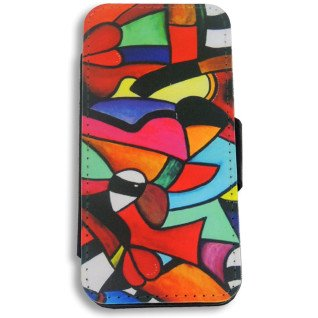 Funda carcasa de tela y simil piel para iPhone5/5s