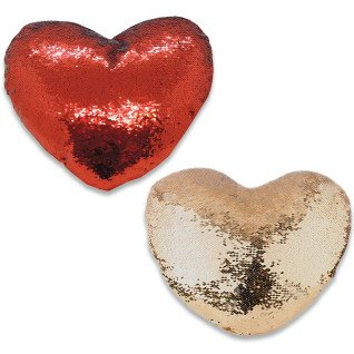 Fundas corazón para cojines con lentejuela reversible sublimable