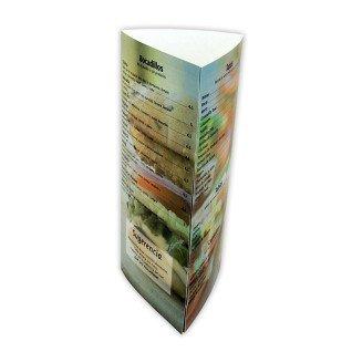 Hoja A4 imprimible láser para menú forma tríptico - Pack de 10 uds