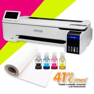 "Impresora de sublimación Epson Surecolor SC-F501 - 24"" con tintas fluorescentes - Financiación"