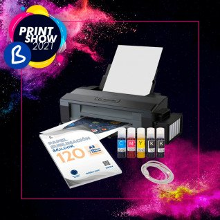 Impresora sublimación EPSON ET14000 + Pack subli algodón + Juego tintas - BPrint Show 2021