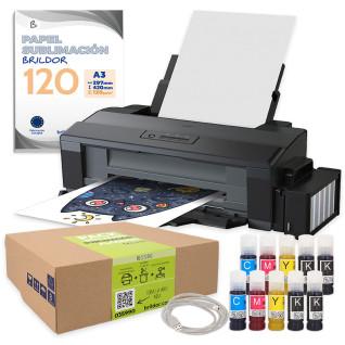 Impresora sublimación EPSON ET14000 + Pack subli algodón + Juego t