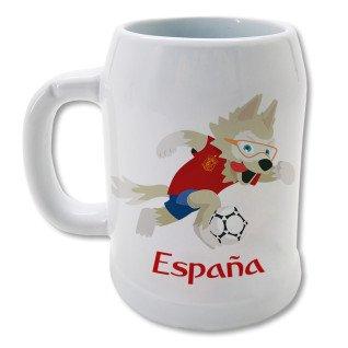 Jarra de cerveza blanca de 0,5L.- España