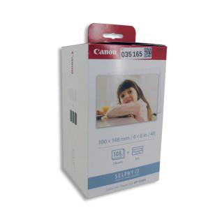 Kit 108 hojas + tinta para impresora fotográfica Canon Selphy CP1200