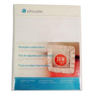Lienzo de algodón imprimible Silhouette - Pack 8 hojas de 216x279mm