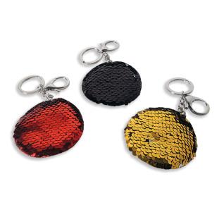 Llaveros con lentejuelas reversibles - 3 colores