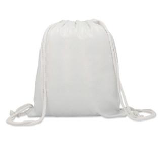 Mochila de cuerdas para sublimación blanca con purpurina