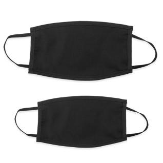 Mascarillas faciales doble capa color negro
