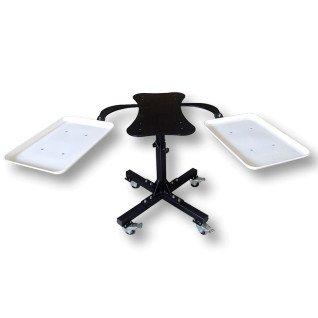 Mesa accesoria para planchas Magnetic con bandejas laterales