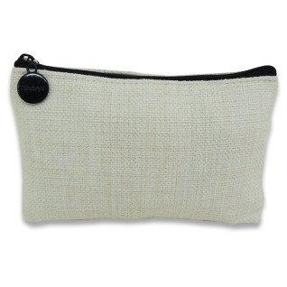 Monedero 15x10 de tejido símil lino con cremallera