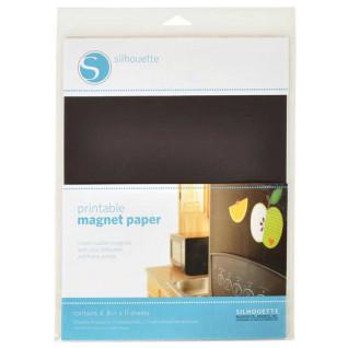 Papel magnético para impresión y corte Silhouette - Pack 4 hojas de 216x279mm