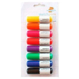 PackPack boligrafos iniciación 8 colores para plotters Silhouette