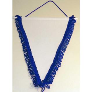 Banderín Triangular 200x130mm Blanco Azul