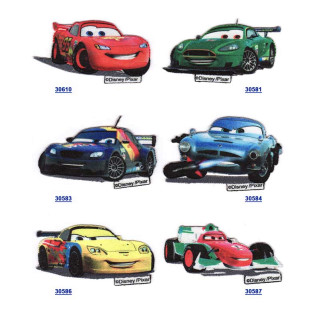 Parches bordados - estampados Cars 2 Surtido 6 uds