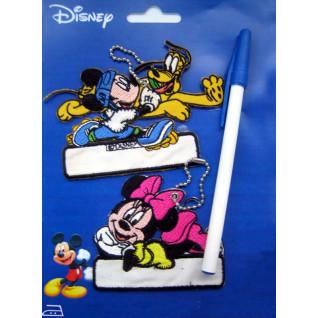 Marcadores de prendas bordados Mickey y Minnie con bolígrafo