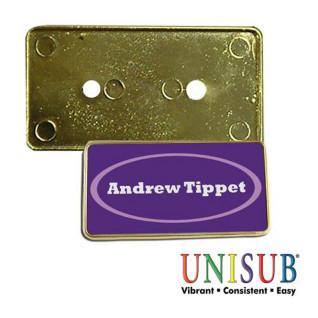 Marco dorado para placa identificativa de plástico