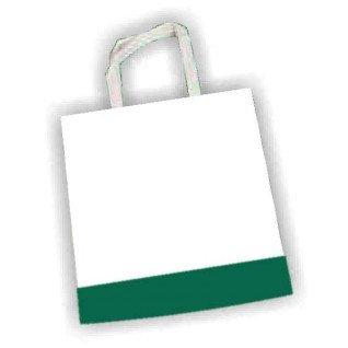 Bolsa de tela TST con fuelle y color Verde