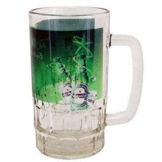 Jarra de Cerveza cristal transparente personalizada
