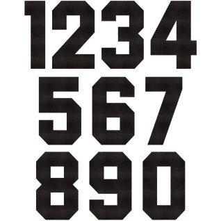 Números Dorsales Termoadhesivos de Tela Block Negro