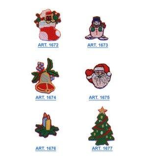 Parches bordados Navidad Surtido 6 uds