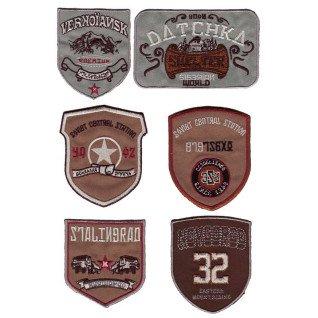 Parches bordados Escudos variados Surtido 6 uds