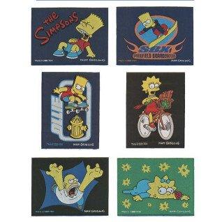 Parches tejidos Los Simpsons Surtido 6 uds