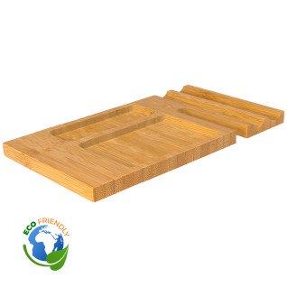Organizador de sobremesa de madera de bambú