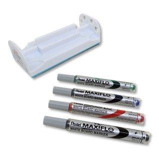 Pack 4 rotuladores finos en gel Pentel Maxiflo y borrador para pizarra blanca