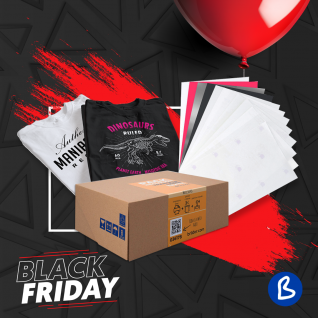 Pack de iniciación al papel transfer láser sobre textil-Black Friday 2020