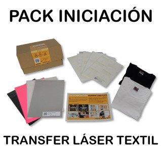 Pack de iniciación al papel transfer láser sobre textil